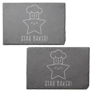 Star Baker! Engraved Slate Placemat - Set of 2