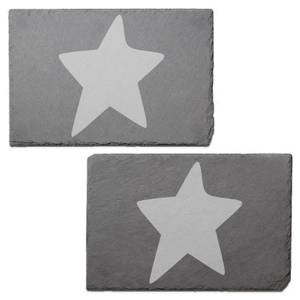 Star Engraved Slate Placemat - Set of 2