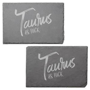 Taurus As Fuck Engraved Slate Placemat - Set of 2