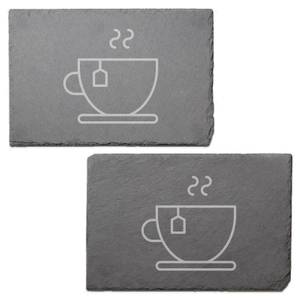 Tea Engraved Slate Placemat - Set of 2