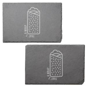 That's A Wrap Engraved Slate Placemat - Set of 2