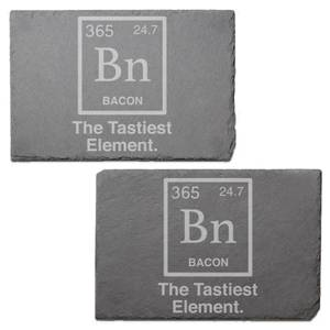 The Tastiest Element Engraved Slate Placemat - Set of 2