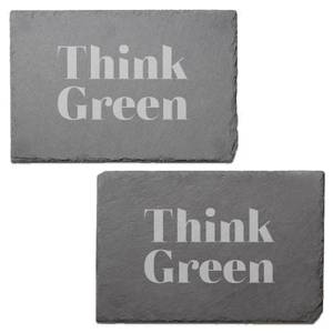 Think Green Engraved Slate Placemat - Set of 2