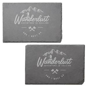 Wanderlust Engraved Slate Placemat - Set of 2