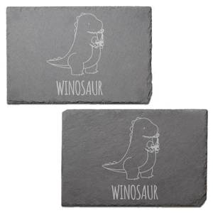 Winosaur Engraved Slate Placemat - Set of 2