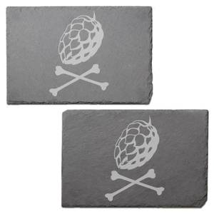 X Marks The Spot Engraved Slate Placemat - Set of 2