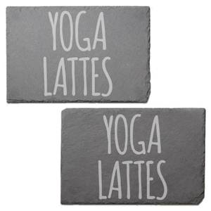 Yoga Lattes Engraved Slate Placemat - Set of 2