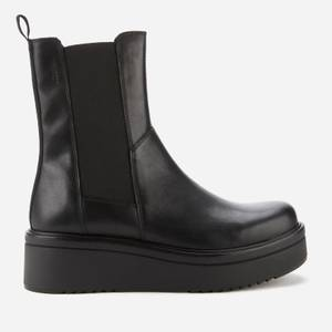 Vagabond Women's Tara Leather Chunky Chelsea Boots - Black