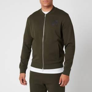 Armani Exchange Men's Bomber Zip Sweatshirt - Green