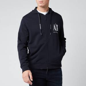 Armani Exchange Men's Zipped Ax Hoodie - Navy