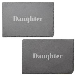 Daughter Engraved Slate Placemat - Set of 2