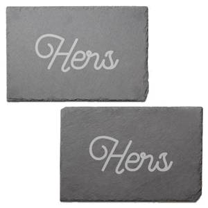 Hers Engraved Slate Placemat - Set of 2