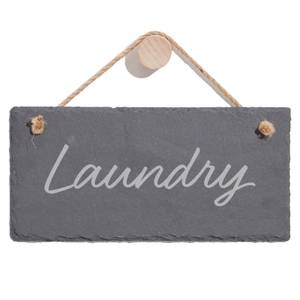 Laundry Engraved Slate Hanging Sign