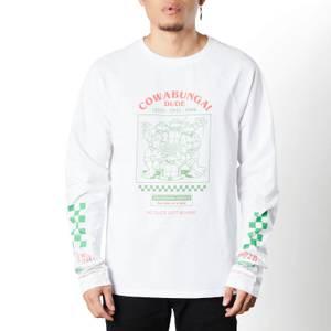 Teenage Mutant Ninja Turtles Cowabunga Unisex Long Sleeve T-Shirt - White