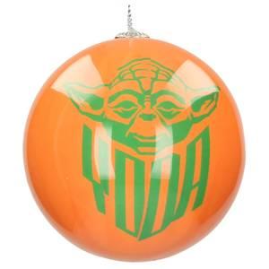 Star Wars Christmas Bauble - Yoda and Logo