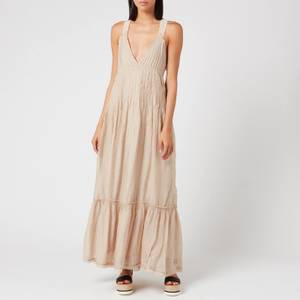 Free People Women's Frankie Pintuck Maxi Dress - Sand