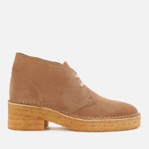 Clarks Originals Women's Arisa Desert Suede Heeled Boots - Dark Sand