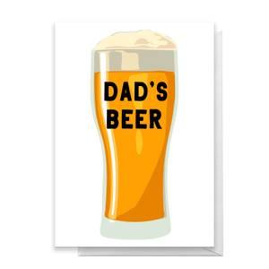 Dad's Beer Greetings Card