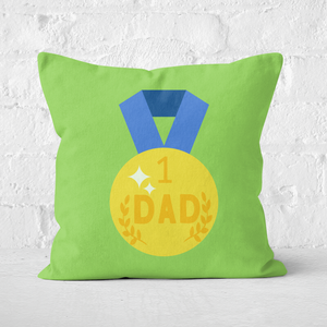Dad Medal Square Cushion