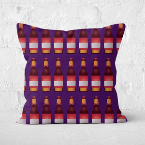 Beer Bottle Square Cushion