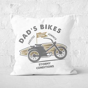 Dad's Bikes Square Cushion
