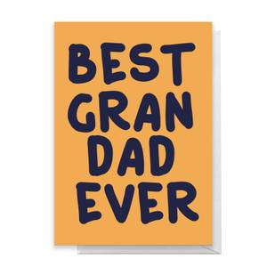 Best Grandad Ever Greetings Card