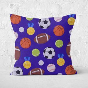Sports Dad Square Cushion