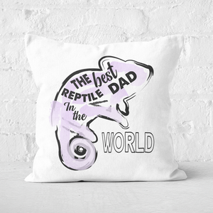 Reptile Dad Square Cushion