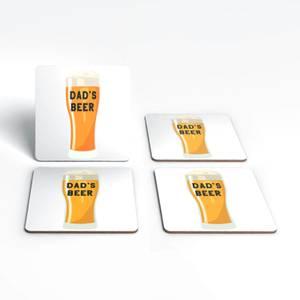 Dad's Beer Coaster Set