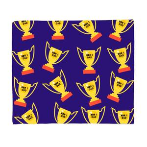 Nbr 1 Dad Trophy Fleece Blanket