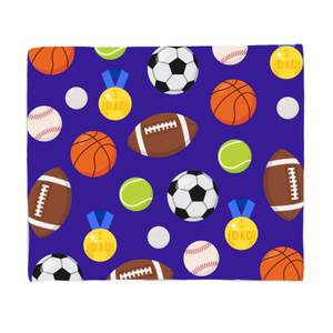 Sports Dad Fleece Blanket
