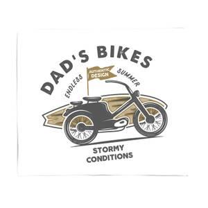 Dad's Bikes Fleece Blanket