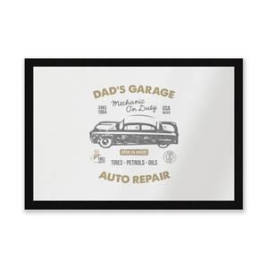 Dad's Garage Entrance Mat