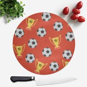 Football Dad Round Chopping Board