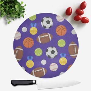 Sports Dad Round Chopping Board