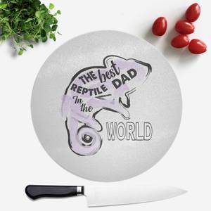 Reptile Dad Round Chopping Board