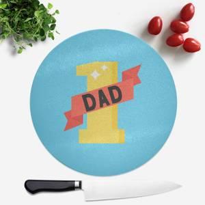 1 Dad Round Chopping Board