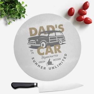 Dad's Car Round Chopping Board