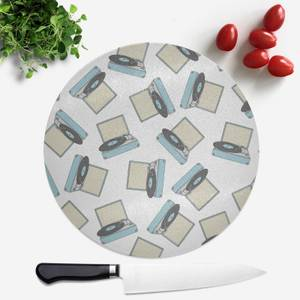 Record Player Round Chopping Board