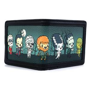 Loungefly Universal Monsters Chibi Aop Bi-Fold Wallet