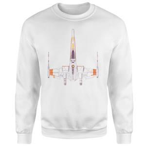 Space Ship Sweatshirt - White