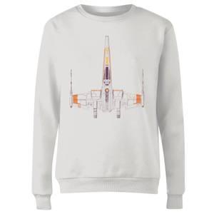 Space Ship Women's Sweatshirt - White