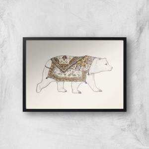 Ours Blanc Giclee Art Print