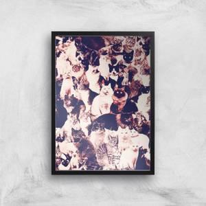 Cats Forever Giclee Art Print