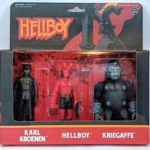 Super7 Hellboy ReAction Figure 3-pack - Hellboy with Horns, Karl Kroenen, Kriegaffe Ape