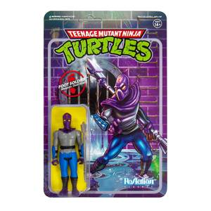Super7 Teenage Mutant Ninja Turtles ReAction Figure - Foot Soldier Action Figure