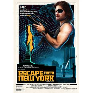 John Carpenter's - Escape From New York Lithograph by Matt Ferguson