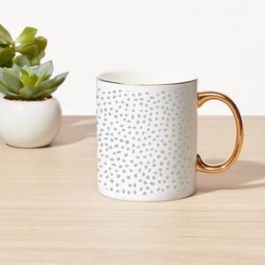 Spots Bone China Gold Handle Mug