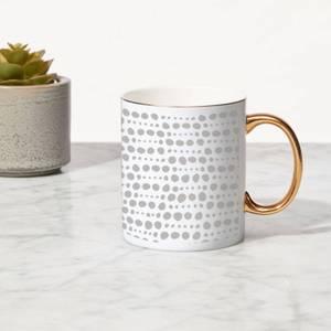 Spotty Mix Bone China Gold Handle Mug