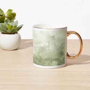 Smoky Marble Bone China Gold Handle Mug